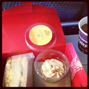 This, according to Virgin Atlantic, is 'afternoon tea'.