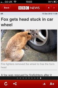 It must have been a slow news day at the BBC.